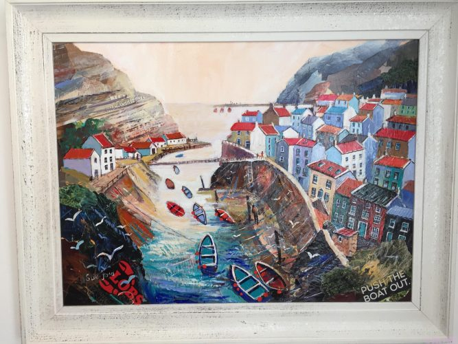 Staithes Beck in collage featured in Paint Magazine