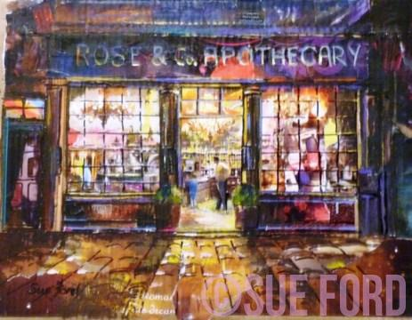 Rose and Co Apothcary Collage