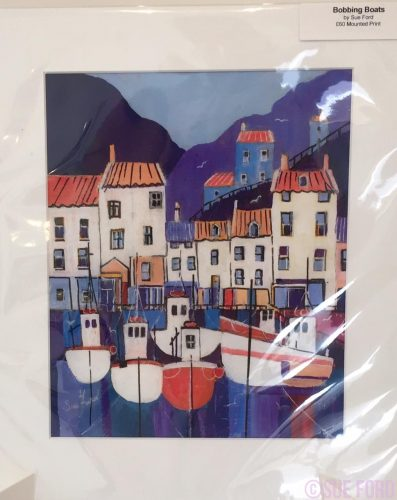 Bobbing Boats Staithes Acrylic