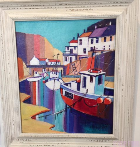 Beckside in Staithes prints in acrylic