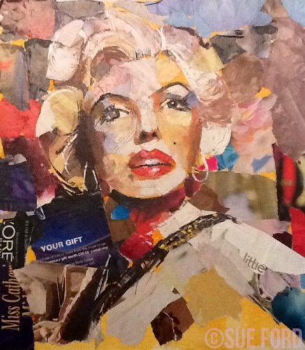 Marilyn in collage
