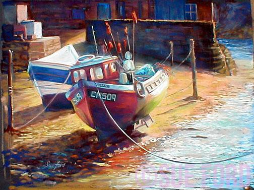 Staithes, waiting for the tide
