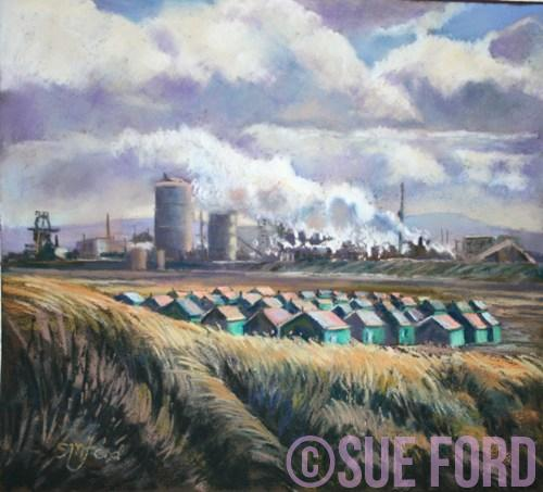 Teesmouth British Steel with Huts