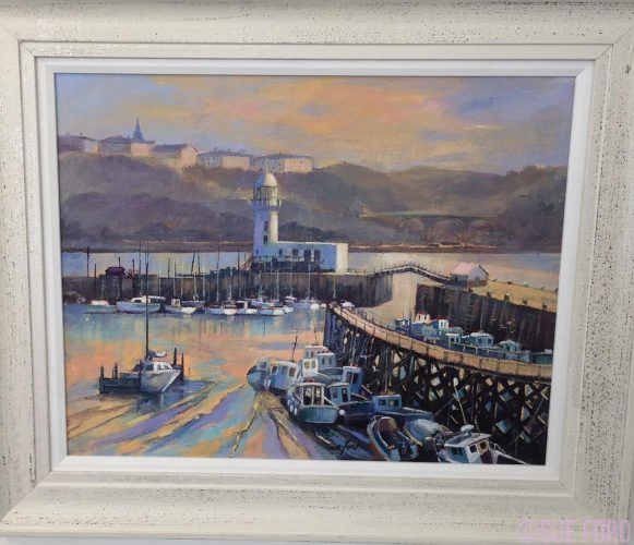Scarborough Harbour in acrylic
